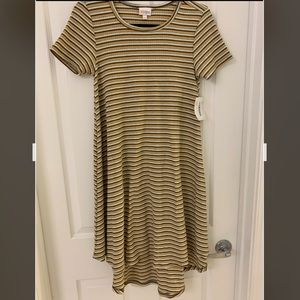 NWT LuLaRoe Carly - yellow, grey & white - XXS